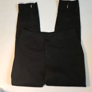 Ralph Lauren Black Label Black Zip Hem Pants Sz 4